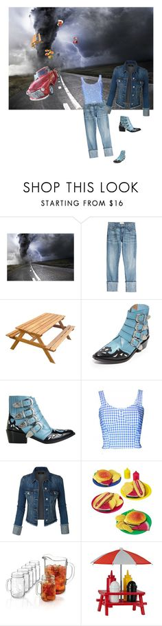 """There goes the Bar B Que...Auntie Em"" by babygirltrice ❤ liked on Polyvore featuring Current/Elliott, Toga, FAIR+true, LE3NO and Libbey"