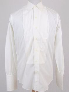 Burberry of London Tuxedo Shirt 15.5 Medium Ruffled Bib French Cuffs Vintage