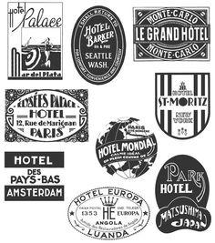 Tim Holtz Large Cling Rubber Stamp Set-Travel Labels
