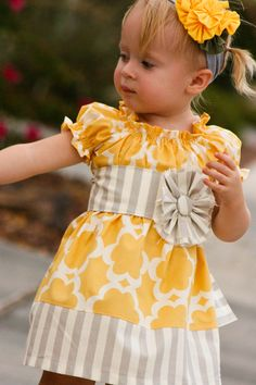 This etsy shop has adorable dresses for little girls.