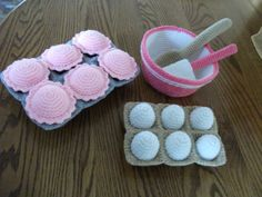 Crochet Cupcake Baking Set Made to Order by beccabeargirl on Etsy, $28.00
