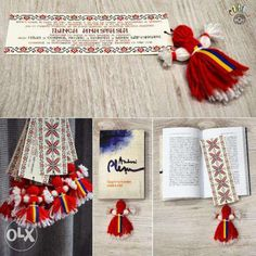 5 lei: Invitatie de botez (se poate adapta si pentru nunta) cu motive traditional romanesti. Are forma de semn de carte cu papusa traditionala, din ata si tricolor si poate fi considerata marturie pentru inv... Diy And Crafts, Crafts For Kids, Rustic Wedding, Wedding Day, Wedding Glasses, Bridal Shower, Christmas Crafts, Wedding Planning, Cross Stitch