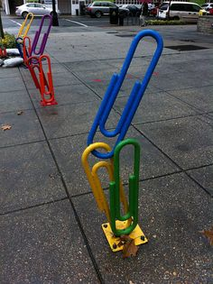 the other end of the trail:) //paper clip bike rack DC