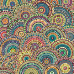 Millefiori Mandala Art Print by Groovity Mandala Print, Sketch Inspiration, Fractal Art, Fractals, Dot Painting, Diy Wall Art, Surface Pattern Design, Doodle Art, Doodle Drawings