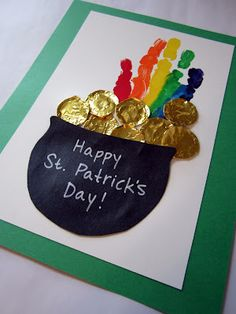 handprint- do this on burlap, frame and you've got a cute little St. Patty's Day decor.
