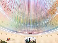 The Mall of America gets a new, huge, brightly colored installation of yarn art courtesy of local artist HOTTEA. It's the same idea as graffiti—just less controversial.