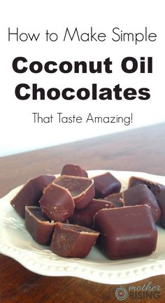 Here's how to make easy coconut oil chocolates that taste amazing and are good for you too! Only six ingredients and dairy free, gluten free & grain free!