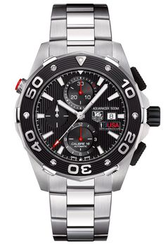 Steel Aquaracer 500M Calibre 16 chronograph by TAG Heuer