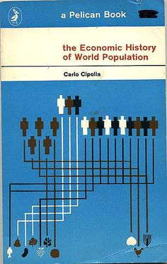 The Economic History of World Populaton (Pelican Book) Cover design by Bruce Robertson 1962