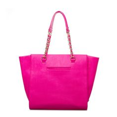 Bright Pink Tote Bag // perfect for a pop of color