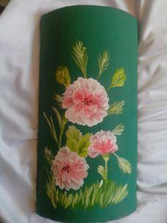 teja pintada a mano con acrilico