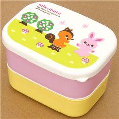 Bunnies & squirrels! cute Bento Box
