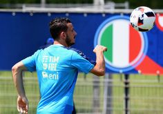 "Alessandro Florenzi of Italy in action during the training session at ""Bernard Gasset"" Training Center on June 29, 2016 in Montpellier, France."