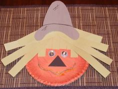 Learn how to make a scarecrow craft for kids