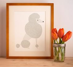 Poodle Illustration  FREE US SHIPPING by Gingiber on Etsy, $23.00