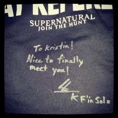 Osric's autograph to me after he recognized me from Twitter and hugged me.