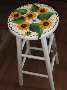 custom designed stools by dkmdesigns on Etsy