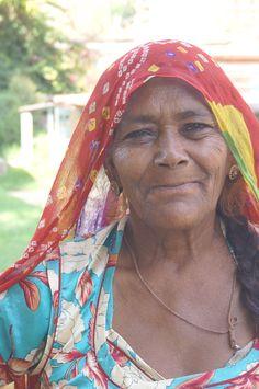 Woman in Mandore Gardens, near Jodhpur, India.