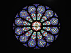 Rose window at Union Point First Baptist Church