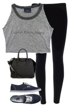 """""""Sporty outfit"""" by simranwazhere ❤ liked on Polyvore featuring Vans, Givenchy, women's clothing, women, female, woman, misses and juniors"""