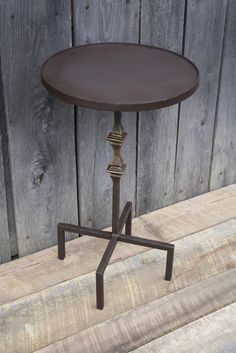 """""""Round Side Table"""" #T113  James McGee Iron Designs"""