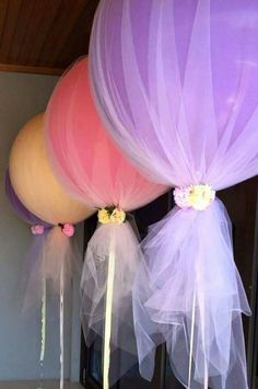 Tulle over balloons!
