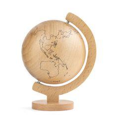 Wood Globe