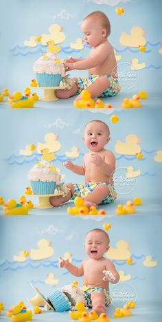 51 Ideas For Birthday Photography Studio Rubber Duck Birthday, Rubber Ducky Party, Baby Boy Birthday, First Birthday Parties, First Birthdays, Birthday Cake, Rubber Duck Cake, Birthday Gifts, Baby Cake Smash