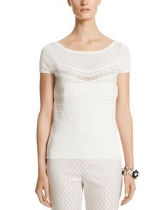 White House | Black Market Crochet Lace Pullover  Style: 570107575 #whbm