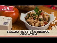 Salada de Feijão Branco com Atum   Receitas de Minuto - A Solução prática para o seu dia-a-dia!