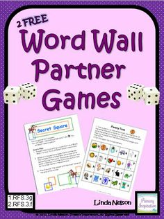 FREE Two word wall games for first and second grade