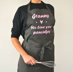 Personalised 'We Love Your Pancakes' Apron  A personalised apron that makes a truly great gift for all occasions. It is such a nice way to say thank you and congratulate your much beloved chef. Find it at @aforangels  #personalisedaprons #bakingwithkids #customisedgifts #personalisedclothing #personaliseditems #aprons #uniqueclothes #customisedapron #bespokeaprons #letscook #musthave #baking #cookingwithkids #personalisedgifts #thoughtfulgifts #stylematters #amatterofstyle