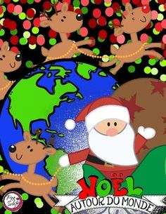 Christmas Around the World in French! Mon passeport de Noël autour du monde. Visit 14 countries around the globe to find out how Christmas is celebrated.