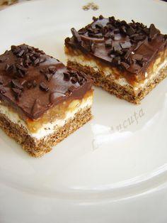 Prajitura cu ciocolata alba si nuci caramelizate