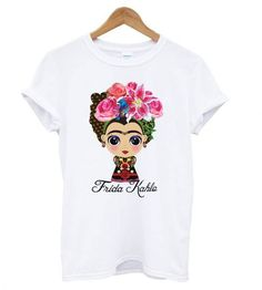 Doll Fridita Kids T shirt This t-shirt is Made To Order, one by one printed so we can control the quality. T Shirt World, Baby Shirts, Direct To Garment Printer, Cool Shirts, Shirt Style, Long Sleeve Shirts, Shirt Designs, T Shirts For Women, Mens Tops