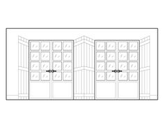 French Door and Shutter Wall Elevation