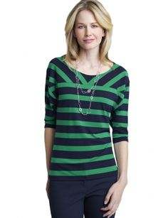 cute for spring- love navy and green! limited.com