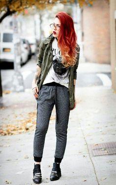 Le Happy - Page 6 of 161 - Just another WordPress site Nerd Fashion, Punk Fashion, Grunge Fashion, Urban Fashion, Fashion Outfits, Fashion Tips, Rocker Fashion, Mode Grunge, Estilo Rock