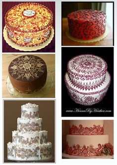 mehndi wedding cakes