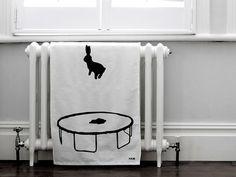 HAM bouncing-rabbit-tea-towel