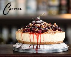 Capitol's Vanilla Cheesecake with Berries / Moore Wilson's Light Cheesecake, Anzac Biscuits, Wine Direct, Fresh Cream, Baking Tins, Latest Recipe, Fresh Lemon Juice, Recipe Collection