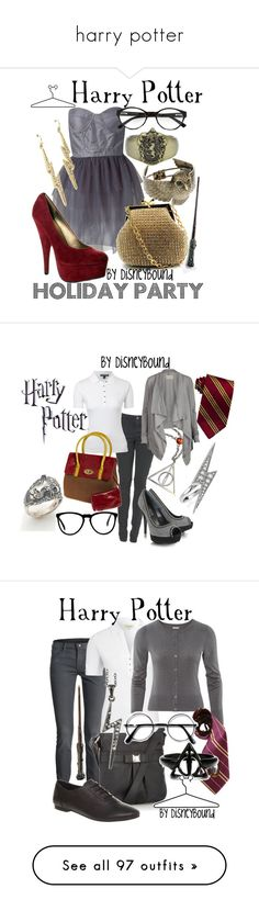 """harry potter"" by star2012 ❤ liked on Polyvore featuring Dry Lake, Franchi, I.Line, Fantasy Jewelry Box, ASOS, Disney, harry potter, Lauren Ralph Lauren, AllSaints and Loriblu"
