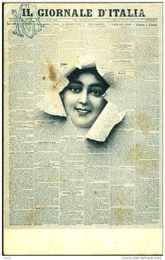 PUBBLICITA IL GIORNALE D'ITALIA ROMA 1902