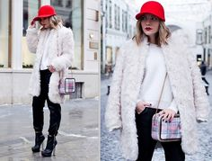 Stella Mc Cartney Hat, Stella Mc Cartney Coat, Stella Mc Cartney Bag, Topshop Pants, Topshop Boots