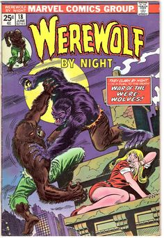 Werewolf by Night 18 Marvel Comics Blood Monster Ring Tales Horror Terror Scary Creepy Comic 1974 FN/VF by LifeofComics #comicbook #halloween