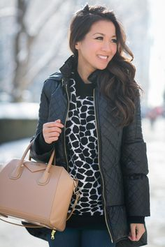 Wendy Nguyen :: Alice + Olivia jacket, Robert Rodriguez sweater, Citizens of Humanity jeans, Givenchy bag