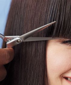 How to trim your own bangs. You'll be surprised at how easy it is!