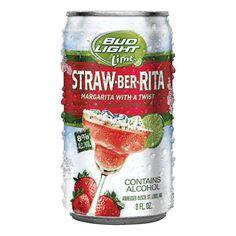 Bud Light Straw Berrita