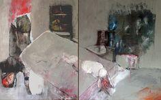 "Saatchi Art Artist anne gracia; Painting, ""GREY ROOM II"" #art"