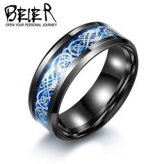 Stainless Steel Man's High Quality Wedding Ring Factory Wholesale Price Us 7 8 9 10 11 12 BR-R013